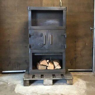 Werkplaatskachel no nonsens werkpaard houtkachel zonder glas