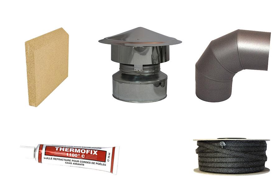 materialen voor de houtkachel