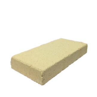 vuurvaste steen split formaat geel voor in de houtkachel