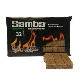 Goedkopen Bruine aanmaakblokjes voor de BBQ of houtkachel