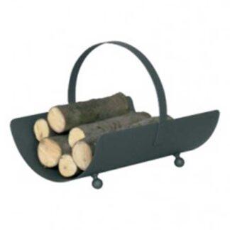 Antraciet grijze houtbak voor grote blokken hout