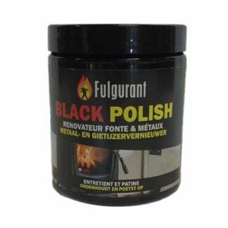 Fulgurant black polish kachelpoets in een potje, kachelpoets die niet stinkt