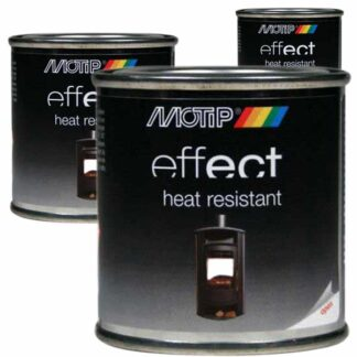 Motip Effect heat resistant verf in blik, hittebstendige kachelverf voor kwast of roller
