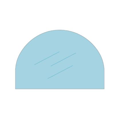 Halfrond glas voor Bruno Romantik (Mini) - Pyro kachelruit van hittebestendig glas voor houtkachel of allesbrander.