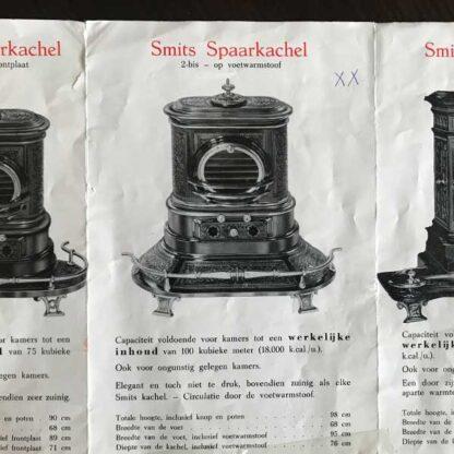 Folder en specificaties van de friese smits spaarkachel, welke ook wel Fbaer grandeur genoemd wordt