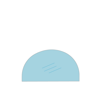 Bullerjan kachelruit van hittebestendig glas voor de houtkachel. Ruit met toog.