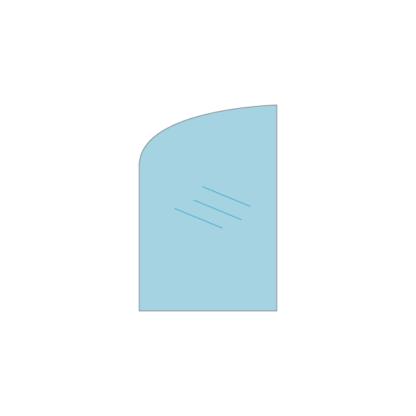 Thermocet elegance 2 deurtjes kachelruit. Kachelruit voor in de thermocet elegance 2 kachel met speciale uitvoering met deurtjes. Voorbeeld deur links.