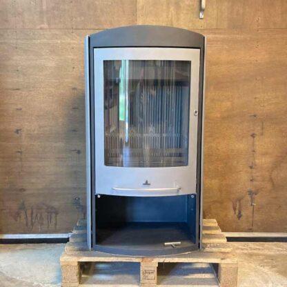 Barbas Eco 400 houtkachel gebruikt met gebogen glas